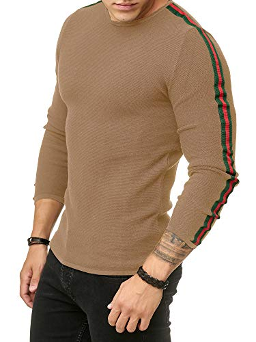 Redbridge Herren Streifen Pullover Strickpullover Luxury Line Sweater M3087