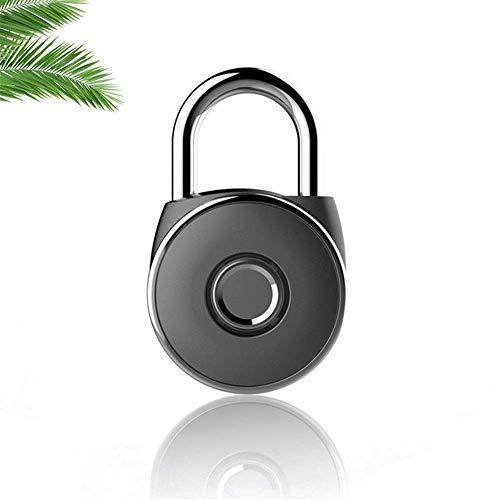 XJJZS Fingerprint Padlock, Smart Fingerprint Security Touch Keyless Biometric Padlock Suitable for Door Luggage Cabinet Backpack Suitcase Gym Locker