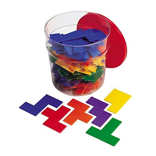 Learning Resources LER0286-6 Rainbow Pentominos in Regenbogenfarben