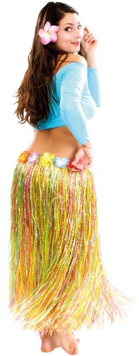 infactory Kostüme: Hawaii-Rock für Erwachsene (Karnevalkostüme Damen)
