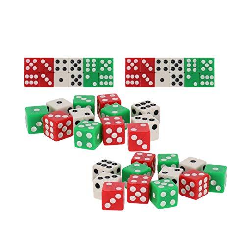 EUROXANTY® Dados de Colores | Dados con Puntos | Juegos de Azar | Juegos de Mesa | Multitud de Juegos | Dados | Dados opacos (24 Unidades)