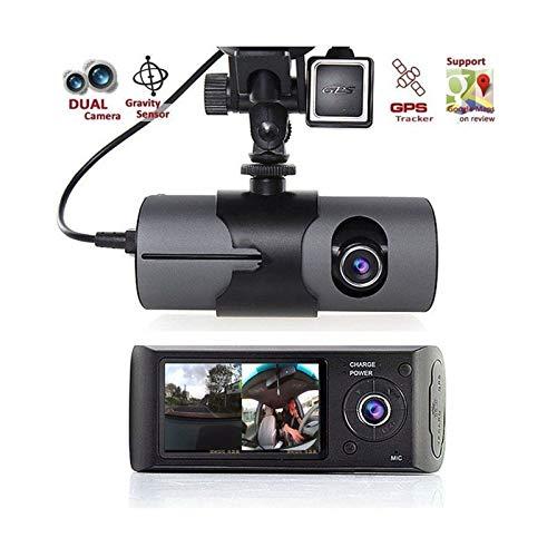 ROBERTAGOR DVR AUTO CON DOPPIA TELECAMERA GPS SENSOR REGISTRATORE VIDEOCAMERA MONITOR R300