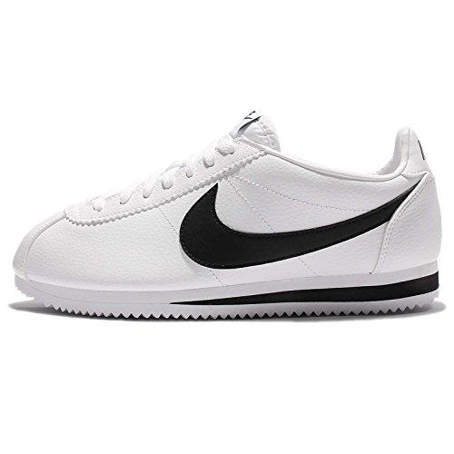 Nike Classic Cortez Leather, Zapatillas para Hombre, Blanco (White/Black 100), 38.5 EU