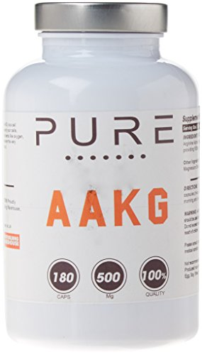 Bodybuilding Warehouse 500mg Pure Arginine Alpha Ketoglutarate (AAKG) 180 Capsules