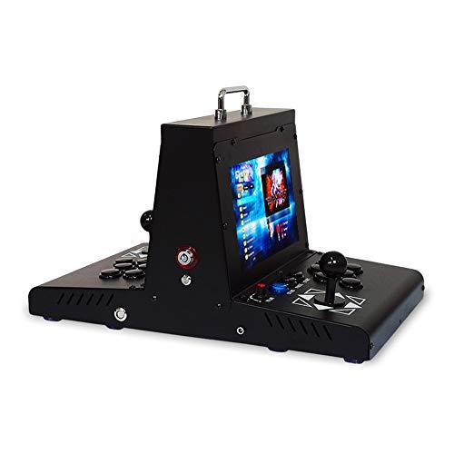 YBCN Double Machine de Jeu Portable rétro Machine de Jeu de Combat d'arcade Bascule 10 Pouces écran LCD Maison Petit