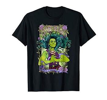 Marvel She-Hulk Vintage Floral Design Graphic T-Shirt