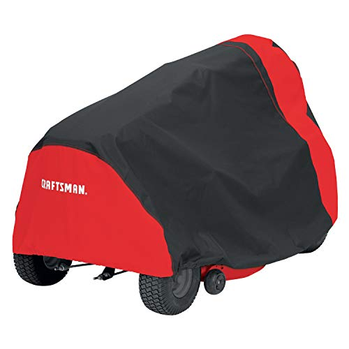 Rugged Lawn mower Cover,Heavy Duty with Extreme Waterproof Protection Flexible Oxford Fabric with Eco-Friendly PU Coating Upgraded Protective Reflective Strip with Water Proof Strip at Seam
