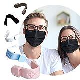 CLAY™ Pince nez, masque, anti buée, accessoire. Empêche la buée sur les lunettes. 5 protections, ponts de nez, réutilisables, éliminent, la buée. Couleurs noir, blanc, gris, bleu, rose.