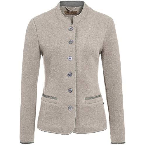 GIESSWEIN Walkjacke Agnes - Damen Blazer aus 100% Wolle, Elegante Damen Jacke aus Schurwolle, Trachtenjacke Damen, taillierter Damen Blazer, Walk, Filz