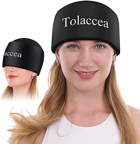 Migraine and Headache Relief Hat, Tolaccea Flexible Gel Ice Pack, Fast Lifesaver for Sufferers of Chronic Migraine, Tension Headache, Cluster Headache, Medication-overuse Headache(M)