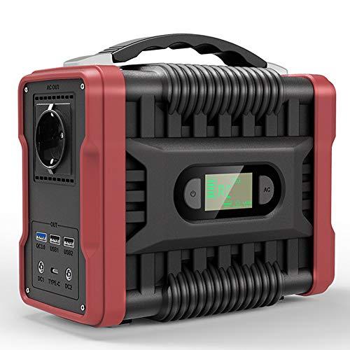 EastMetal Generador Solar Portátil 200W/222Wh, Estación de Energía con Iluminación LED & Inversor DC/AC USB-C, Fuente de Alimentación de Emergencia 60000mAh, para Al Aire Libre, Uso Doméstico