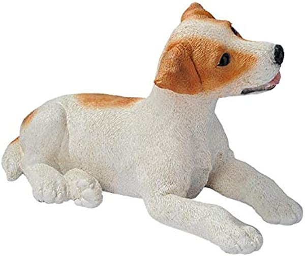 Design Toscano Brown And White Jack Russell Puppy Dog Statue Multicolored