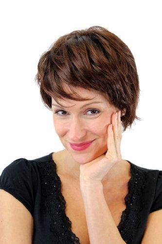 Wig Me Up - Bellissimo Intrepida Parrucca Capelli Corti Da Donna Mix Di Castano Gfw1270-4T33