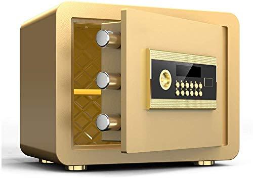 FEE-ZC Starke Vertraulichkeit Boxen Veranstalter Sicherheit Stahl LCD-Display Elektronische Alarmanlage Double-Layer-Safe Gold 35 * 25 * 25cm