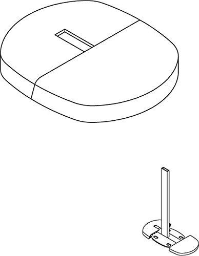 KERMI Blende zu Universalkonsole für Fertigmontage Farbe: weiß (RAL 9016
