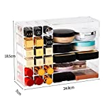 Make-up Organizer CC Creme Storage Box Clarity Kosmetik Make-up-Halter Eitelkeitschrank Pulver-Anzeigen-Regal (Color : New)