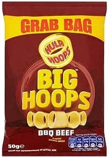 Hula Hoops Big Hoops BBQ Beef Flavour Potato Rings (50g x 36)