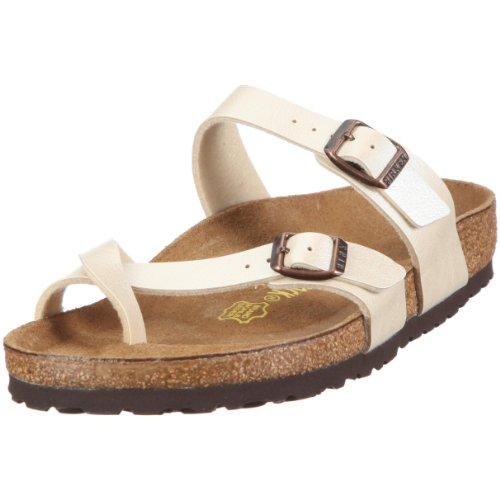Birkenstock Damen Mayari BF Fashion-Sandalen, Graceful Pearl White, 43 EU