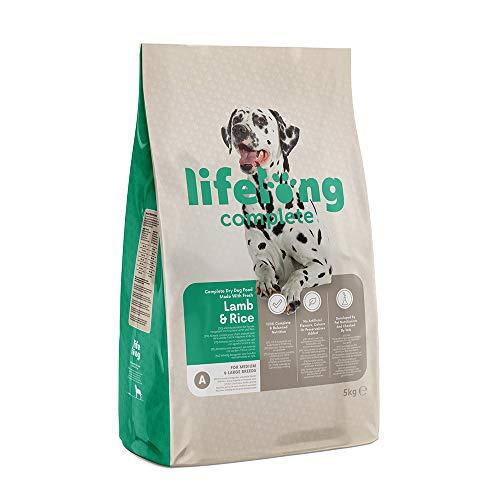 Marca Amazon - Lifelong Alimento seco completo para perros con cordero fresco y arroz - 5 Kg