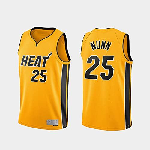 TGSCX Jerseys de Baloncesto para Hombre, NBA Miami Heat 25# Kendrick Nunn Sports Basketball Uniform, Camiseta sin Mangas Chaleco Deportivo, Uniforme de Fan de Unisex,M