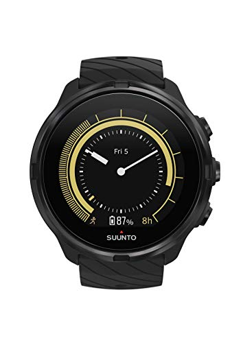 Suunto 9, GPS Sports Watch with Long Battery Life and Wrist-Based Heart Rate, Non-Barometer, All Black