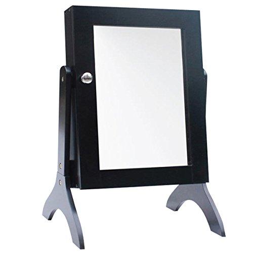 Schmuckschrank aus Holz mit Spiegel 50cm hoch