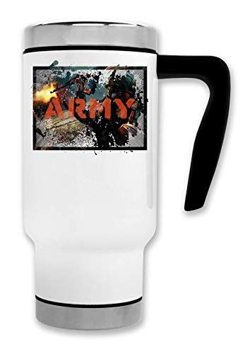 Army | War | Fire in The Guns | Soldier | World war | Killing | AK47 | Gas masker | Simple | Shape Thermische koffie theemok
