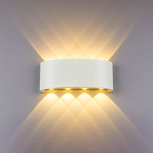 HYDONG LED Apliques de pared Modernos 8W Blanco Lámpara de