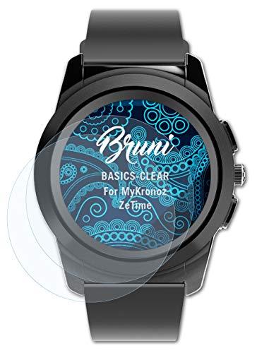 Bruni Schutzfolie kompatibel mit MyKronoz ZeTime Folie, glasklare Bildschirmschutzfolie (2X)