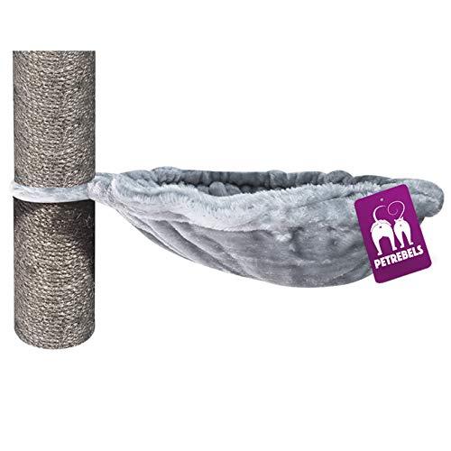 Petrebels - Hamaca para gatos, color gris, 35 cm de diámetro, para gatos