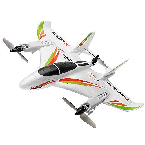 Goolsky WLtoys XK X450 2.4G 6CH 3D / 6G RC Elicotteri Decollo Verticale LED RC Aliante Ala Fissa RC Aereo Aereo RTF