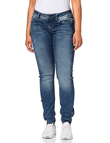 G-STAR RAW Damen Lynn Mid Waist Skinny Jeans, Blau 8968-812, 28W / 28L