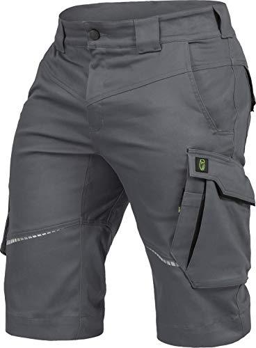 Leib Wächter Flex-Line Herren Arbeitsshort grau/schwarz flexibel mit Spandex (50)
