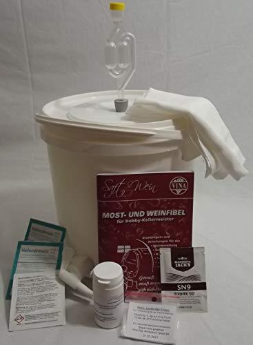 Nahrungsmittel-selbermachen Wein selber Machen, Startset mit Gärbehälter für 10 Liter Wein