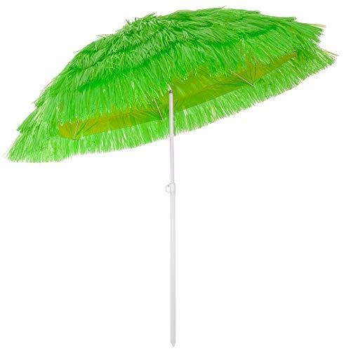 Kingsleeve Sonnenschirm Hawaii Ø 160 cm Neigefunktion höhenverstellbar grün Terrassenschirm Balkonschirm Strandschirm