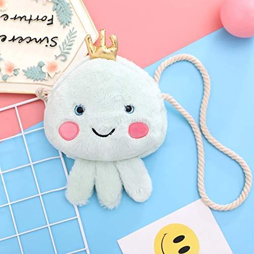 N / A 30cm Cute Jellyfish Plush Messenger Bag Purse