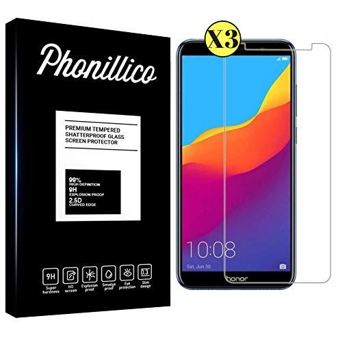 PHONILLICO [Pack de 3] Verre Trempe pour Huawei Honor 7S - Film Protection Ecran Verre Trempe Ultra Resistant [Lot de 3] Vitre Protecteur Anti Rayure sans Bulle d'Air Dureté 9H Ultra Mince