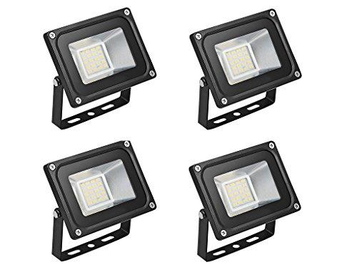 4×20W Étanche IP65 Lumière Blanc Chaud Himanjie LED Spot Projecteur,Extérieur et Intérieur pour Jardin, Terrasse, Square,Cour,Usine [Classe énergétique A+]
