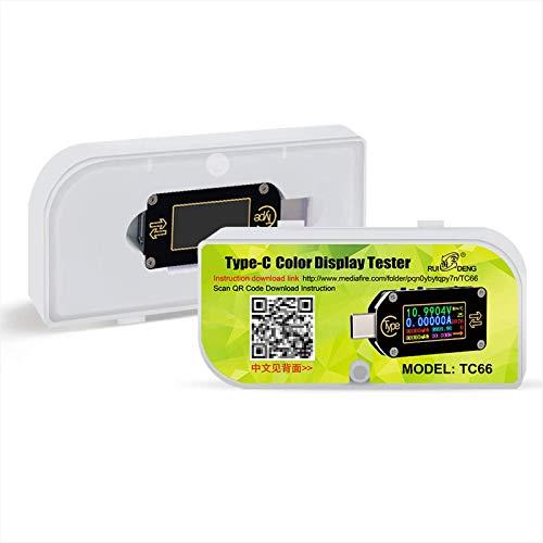 Módulo De AlimentaciónTipo-C PD TRIGGER USB VOLTAJE AMMETER CAPACIDAD METER DE CARGA DE MEDICIÓN DE 2 VÍAS Batería Reductor Ajustable De CC (Size:TC66C; Color:As Picture)