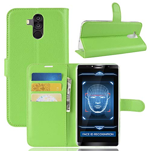 SHIEID Hülle für Oukitel K6 Hülle Brieftasche Hülle Kunstleder Handyfall Geeignet für Oukitel K6(Grün)