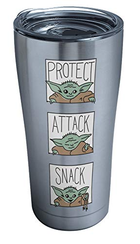 Tervis Star Wars-The Mandalorian Insulated Tumbler, 20oz-Stainless Steel, The Child Protect Attack Snack