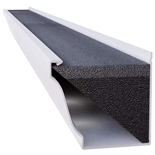 GutterStuff Guard 5-Inch K Style Foam Gutter Filter Insert with Year Round Leaf Protection & Easy DIY Installation, 8 x 4' (32-feet)