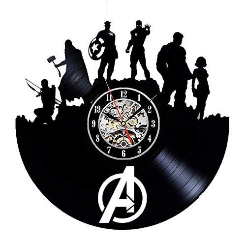 Meet Beauty Ding Reloj de Pared de Vinilo Avengers Age of Ultron - Decora tu hogar con Arte Moderno de superhéroes - Mejor Regalo para Hombres Mujer Novio y Novia