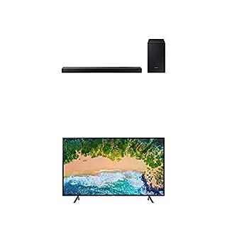 "Samsung UN58NU7100FXZC 58"" 4K Ultra HD Smart LED TV (2018) with Samsung 2.1-Channel Soundbar Home Speaker, Black, Set of 2 (HW-N450/ZC) Bundle (B07L3F74CP) | Amazon price tracker / tracking, Amazon price history charts, Amazon price watches, Amazon price drop alerts"