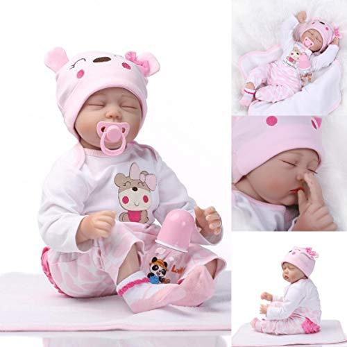 ZIYIUI Bambole Reborn 22 Pollici 55 Cm Realistica Morbido Silicone Vinile Simulazione Bambola Reborn Femmine Reborn Baby Dolls Bambino Bambola Reborn Ragazza Ragazzo Regalo
