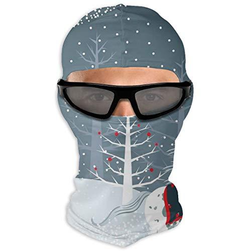 N/A Full Face Beschermende film Kerstmis Paard Hood Zonnebrandcrème Dual Layer Koud Voor Mannen En Vrouwen
