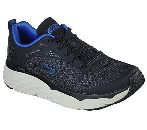 Skechers Herren Max Cushioning Elite Vivid-Performance Walking & Running Shoe Turnschuh, schwarz/blau, 41 EU thumbnail