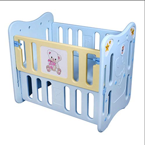 Big Save! piaoling Compact Crib Baby Crib Plastic Baby Bed Baby Cot Can Be Table with Roller Bed par...