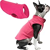 Gooby Dog Fleece Vest - Pink, X-Large - Pullover Dog Jacket with Leash Ring - Winter Small Dog Sweater - Warm Dog Clothes for Small Dogs Girl or Boy for Indoor and Outdoor Use
