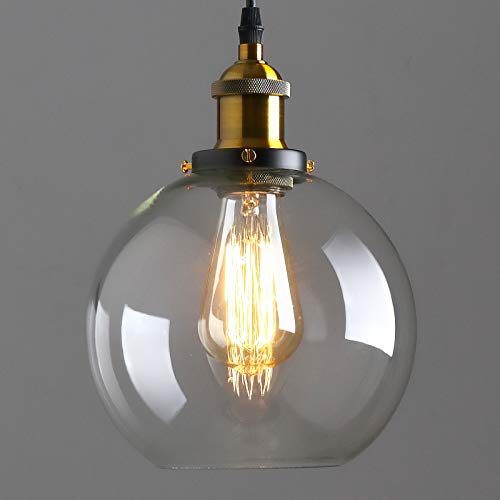 Glass Globe Pendant Light, 7.8